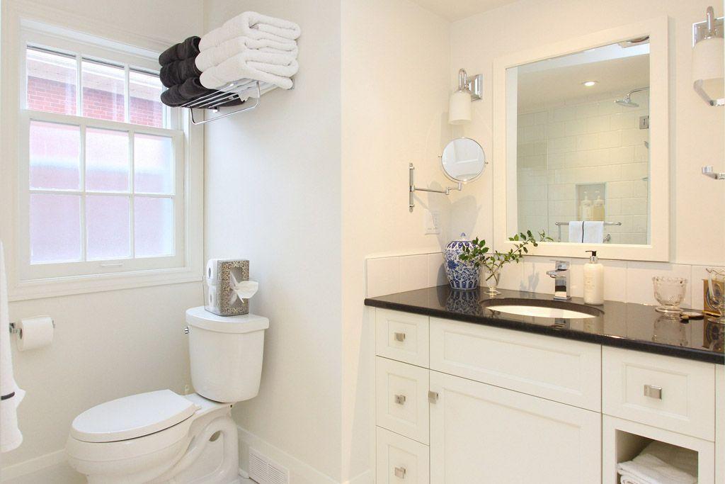 ... White Bathroom Renovation ...