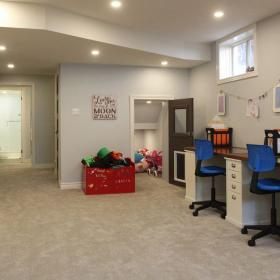 Kid's Play Area in Basement Renovation