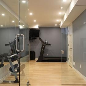Glass Door for Basement Gym
