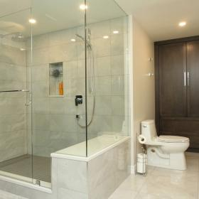 Bathroom Storage with Large Shower