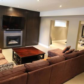 2015 Basement Renovation with Fireplace in North Kitchener