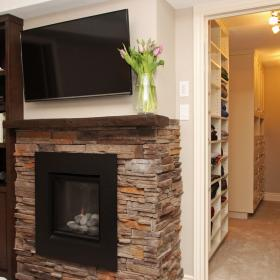 2016 South Kitchener Fireplace Basement Renovation