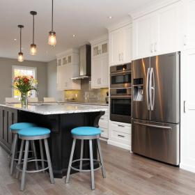 Kitchen with Island, Springmount Place Kitchener