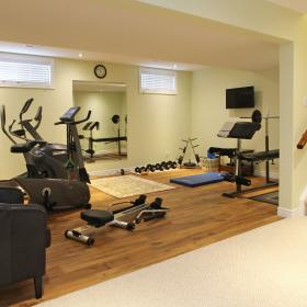 Basement Reno with Workout Room