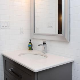 Sink and Mirror for Bathroom