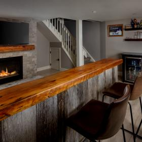 Live Edge Basement Bar