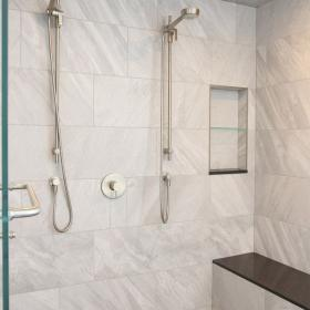 His and Hers Rainfall Shower