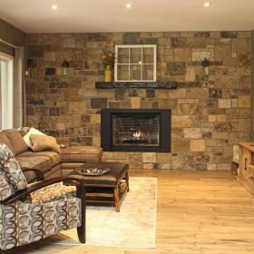 Stone Wall Idea for Living Room