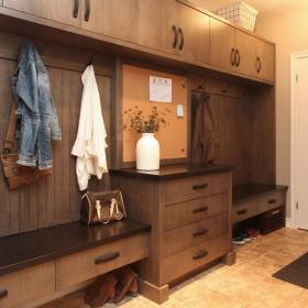 Storage Solution for Mud Room