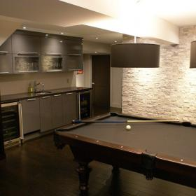 Basement Reno with Pool Table