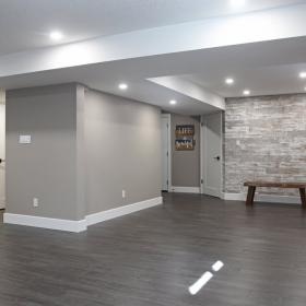 Wallpaper Design in Renovated Basement