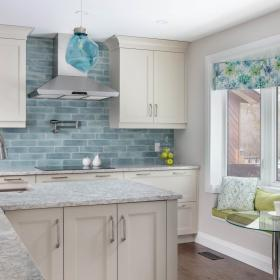 CHART Kitchen Reno with Blue Accent