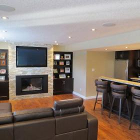 Traditional Basement Renovation