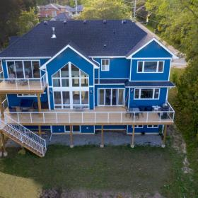 Drone View of Exterior Back