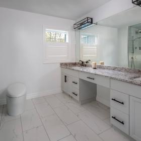 Ensuite Bathroom with Large Double Sinks