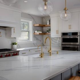Gold Kitchen Faucet for Renovated Kitchen from CHART