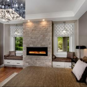 Gorgeous Master Bedroom with Fireplace