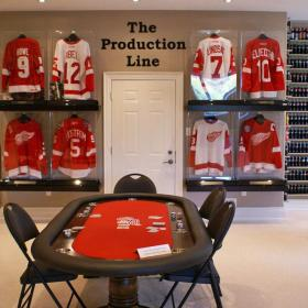 Detroit Red Wings Hockey Jersey Display