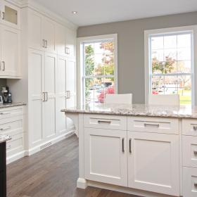 White Kitchen with Large Pantry