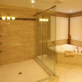 Large Shower with Jacuzzi Tub
