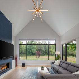 Modern Space with Cathedral Ceiling