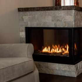 Beautiful Three Sided Fireplace